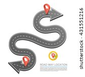 paved path on the road  road...   Shutterstock .eps vector #431551216