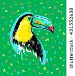 exotic bird vector illustration ... | Shutterstock .eps vector #431552638