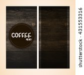 restaurant menu design on... | Shutterstock .eps vector #431553316