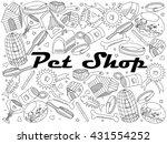 raster line art doodle set of...   Shutterstock . vector #431554252