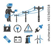 electric man icons set | Shutterstock .eps vector #431560318