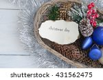 vintage christmas background... | Shutterstock . vector #431562475
