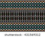 geometric ethnic pattern design ... | Shutterstock .eps vector #431569312