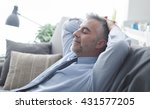 businessman at home resting and ...   Shutterstock . vector #431577205