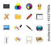 art design icons set