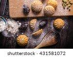 eid dates sweets | Shutterstock . vector #431581072