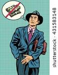 no money businessman | Shutterstock .eps vector #431583148