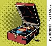 phonograph vinyl record player | Shutterstock .eps vector #431583172
