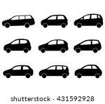 cars set on a white background | Shutterstock . vector #431592928