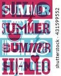 hello summer  summer... | Shutterstock .eps vector #431599552