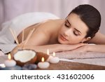 spa set with coconut and aroma... | Shutterstock . vector #431602006