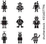 robots icons | Shutterstock .eps vector #431607796