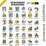 business situations pixel... | Shutterstock .eps vector #431609446