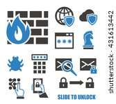 firewall icon set | Shutterstock .eps vector #431613442