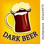 vector beer illustration | Shutterstock .eps vector #431614975