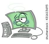 computer got sick 3 | Shutterstock .eps vector #431615695