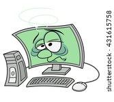 computer got sick 4 | Shutterstock .eps vector #431615758