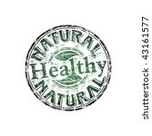 green grunge rubber stamp with... | Shutterstock .eps vector #43161577