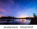 colorful sky after sunset by... | Shutterstock . vector #431623435
