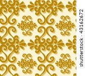 seamless gold 3d ornament... | Shutterstock .eps vector #43162672