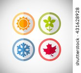 four seasons icon symbol vector ... | Shutterstock .eps vector #431628928