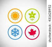 four seasons icon symbol vector ... | Shutterstock .eps vector #431628952
