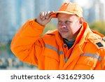 portrait construction road man...   Shutterstock . vector #431629306