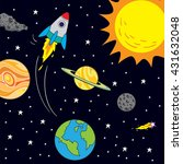 vector illustration of space... | Shutterstock .eps vector #431632048