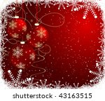 abstract christmas background | Shutterstock .eps vector #43163515