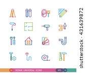 set of universal icons repair... | Shutterstock .eps vector #431639872