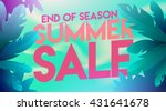 summer sale banner. summer sale ... | Shutterstock .eps vector #431641678