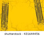 tire tracks background with... | Shutterstock .eps vector #431644456