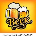 mugs of beer. vector... | Shutterstock .eps vector #431647285