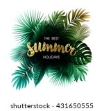 summer tropical exotic leaves... | Shutterstock .eps vector #431650555