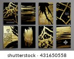 set of black and gold design... | Shutterstock .eps vector #431650558