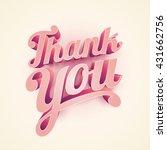vector 3d thank you typographic ... | Shutterstock .eps vector #431662756