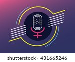 microphone woman human right to ... | Shutterstock .eps vector #431665246