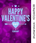 card for valentines day | Shutterstock .eps vector #431669638