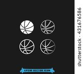 basketball icon vector... | Shutterstock .eps vector #431676586