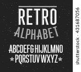 retro alphabet font. type... | Shutterstock .eps vector #431687056