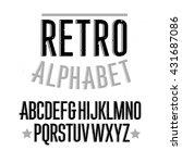retro alphabet font. type... | Shutterstock .eps vector #431687086