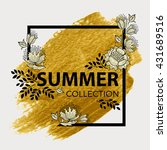 summer collection. elegant... | Shutterstock .eps vector #431689516