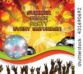 summer beach colorful party... | Shutterstock .eps vector #431690692