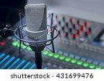 microphone in studio | Shutterstock . vector #431699476