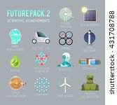 future vector flat icons set.... | Shutterstock .eps vector #431708788