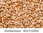 Brown Flax Seed Background....