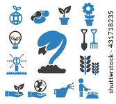 sprout icons set | Shutterstock .eps vector #431718235