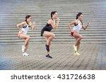 group of young sportswomen...   Shutterstock . vector #431726638