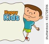 happy kids design  | Shutterstock .eps vector #431728546