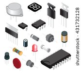 electronic components.... | Shutterstock .eps vector #431732128